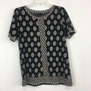 J Crew Short Sleeve Mixed Prints T Shirt